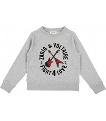Zadig & Voltaire Kids Sweat Shirt FIGHT 4 LOVE Zadig & Voltaire Kids Sweat Shirt FIGHT 4 LOVE
