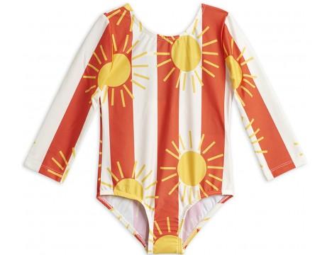 Mini Rodini SUN STRIPE aop LS Swimsuit