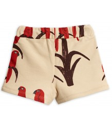Mini Rodini PARROT aop Sweat Shorts Mini Rodini PARROT aop Sweat Shorts