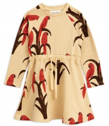Mini Rodini PARROT aop Sweat Dress Mini Rodini PARROT aop Sweat Dress