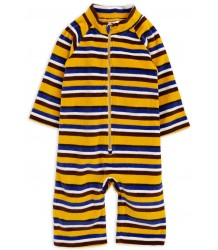 Mini Rodini Velours STRIPE Onesie Mini Rodini Velours STRIPE Onesie
