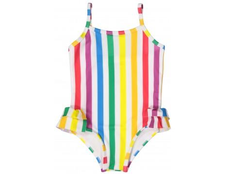 Hugo Loves Tiki Swimsuit RAINBOW STRIPES