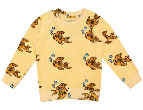 Hugo Loves Tiki Terry Sweatshirt YELLOW FISH