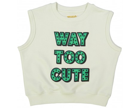 Hugo Loves Tiki Short Sleeve Sweatshirt WAY TOO CUTE