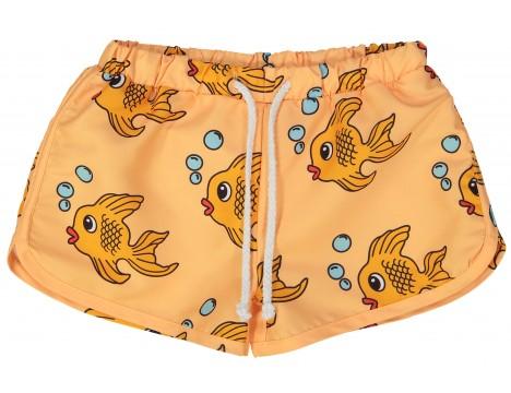 Hugo Loves Tiki Swim Trunks YELLOW FISH
