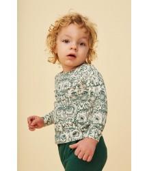 Soft Gallery Bella Baby T-shirt Aop UIL Groen Soft Gallery Baby Bella T-shirt aop OWL green