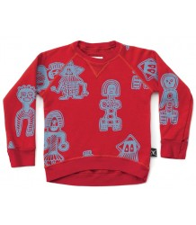 Nununu Sweatshirt TRIBAL DANCERS Nununu Sweatshirt aop TRIBAL DANCERS red