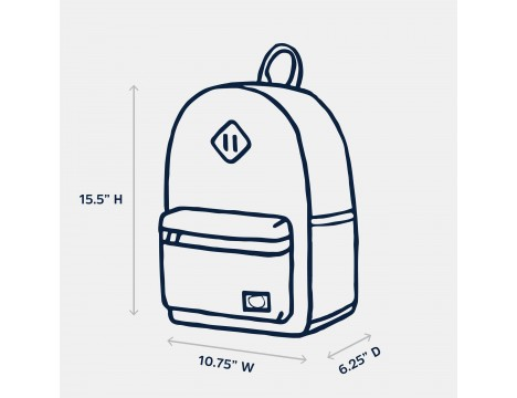 Parkland Bayside Youth Backpack POLKA DOTS QUARTZ