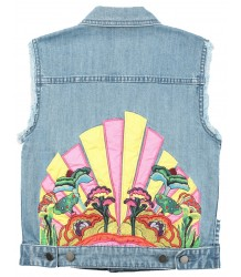 Stella McCartney Kids Denim Gilet YELLOW SUB MARINE - LIMITED EDITION Stella McCartney Kids Denim Gilet YELLOW SUB MARINE - LIMITED EDITION