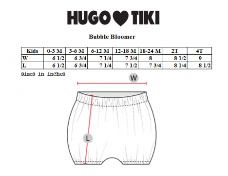 Hugo Loves Tiki Bubble Bloomer GREEN HEARTS