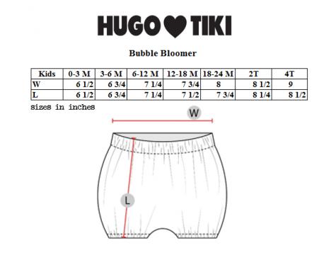 Hugo Loves Tiki Bubble Bloomer RAINBOW STRIPES
