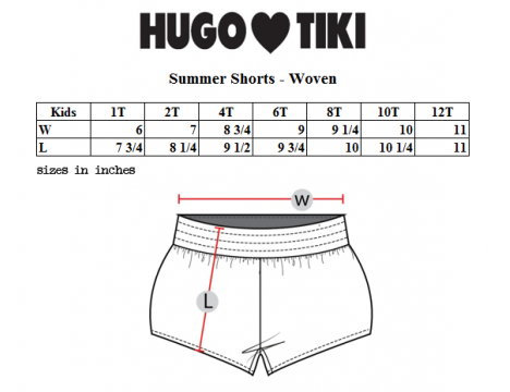 Hugo Loves Tiki Summer Woven Short POODLE