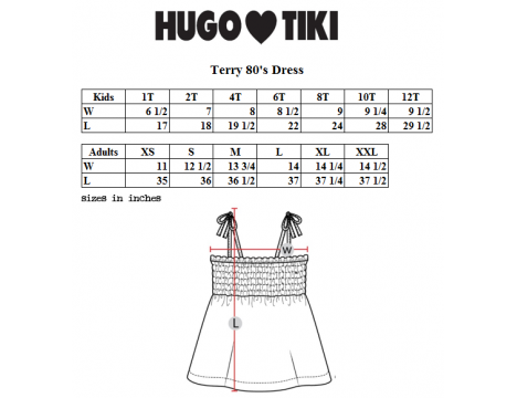 Hugo Loves Tiki Terry 80's Dress FISH