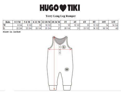 Hugo Loves Tiki Terry Long Leg Romper RASPBERRIES