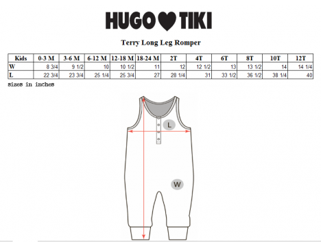 Hugo Loves Tiki Terry Long Leg Romper GREEN HEARTS