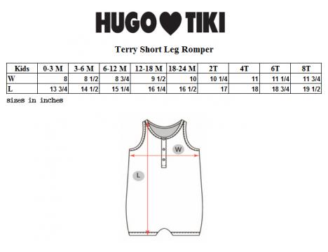 Hugo Loves Tiki Terry Short Leg Romper FISH