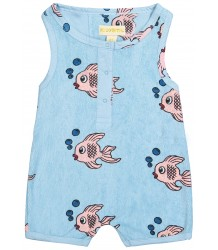 Hugo Loves Tiki Terry Short Leg Romper FISH Hugo Loves Tiki Terry Short Leg Romper FISH