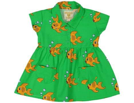 Hugo Loves Tiki Collared Pocket Dress FISH