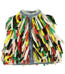 Stella McCartney Kids Denim Gilet MULTI COLOR FRINGES - LIMITED EDITION Stella McCartney Kids Denim Gilet MULTI COLOR FRINGES - LIMITED EDITION