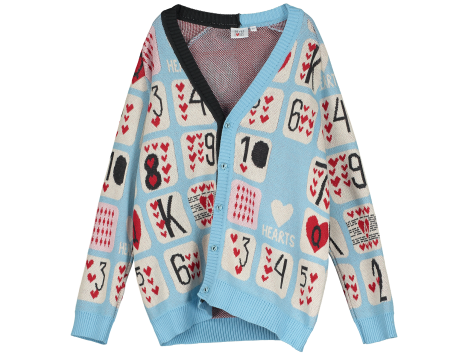 Beau LOves Knit Cardigan GAME OF HEARTS