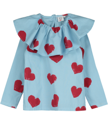 Beau LOves Ruffle Collar Top HEARTS Beau LOves Ruffle Collar Top HEARTS