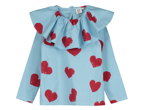 Beau LOves Ruffle Collar Top HEARTS