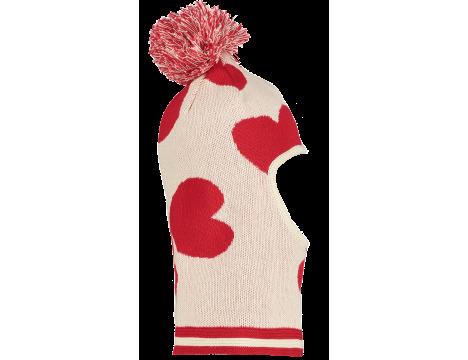 Beau LOves Knit Baby Balaclava HEARTS