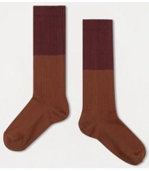 Repose AMS Sok Color Block ROZE-BRUIN Repose AMS Socks COLOR BLOCK rose brown