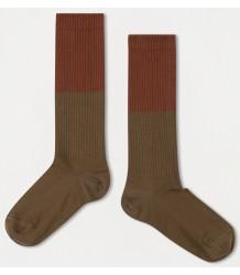 Repose AMS Sok Color Block OLIJF Repose AMS Socks COLOR BLOCK olive