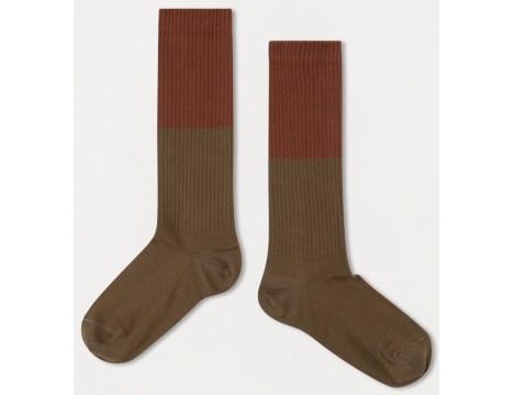 Repose AMS Socks Color Block OLIVE