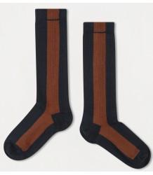 Repose AMS Sok Streep BLAUW-HAZELNOOT Repose AMS Socks STRIPE