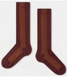 Repose AMS Socks Stripe ROSE-HAZEL Repose AMS Socks STRIPE rose brown