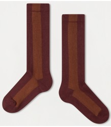 Repose AMS Sok Streep ROZE-HAZELNOOT Repose AMS Socks STRIPE rose brown