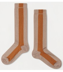 Repose AMS Socks Stripe POWDER-OCHER Repose AMS Socks STRIPE sand powder