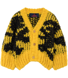The Animals Observatory ARTY Racoon Babies Cardigan The Animals Observatory ARTY Racoon Babies Cardigan