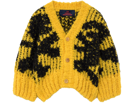 The Animals Observatory ARTY Racoon Babies Cardigan