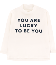 Tiny Cottons YOU ARE LUCKY LS Mock Neck Tee Tiny Cottons YOU ARE LUCKY LS Mock Neck Tee