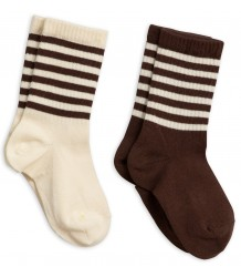 Mini Rodini Stripe Sock 2-pack Mini Rodini Stripe Sock 2-pack brown