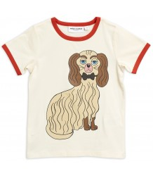 Mini Rodini DASHING DOG SP Binding Tee Mini Rodini DASHING DOG SP Binding Tee