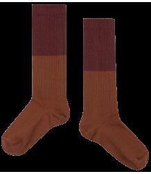 Repose AMS Socks Color Block ROSE-BROWN Repose AMS Socks COLOR BLOCK olive stone blue