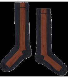 Repose AMS Socks Stripe BLUE-HAZEL Repose AMS Socks STRIPE rose brown sand powder