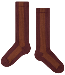 Repose AMS Socks STRIPE Repose AMS Socks STRIPE rose brown