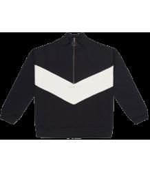 Repose AMS Track Sweater BLACK-WHITE Repose AMS Track Sweater black