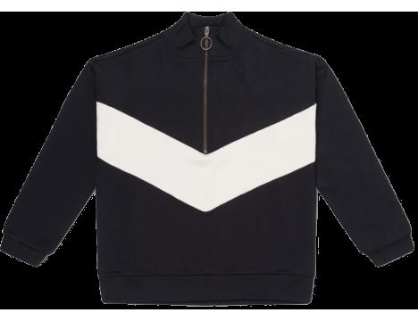 Repose AMS Track Sweater BLACK-WHITE