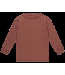 Repose AMS Lange Mouw T-shirt Rib ROZE-BRUIN Repose AMS Long Tee RIB
