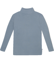 Repose AMS Col Nek T-shirt BLAUW Repose AMS Turtle Neck  steel blue hazel