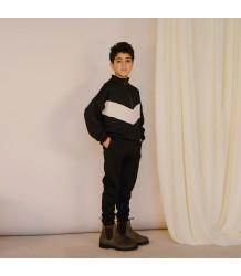 Repose AMS Track Sweater ZWART-WIT Repose AMS Track Sweater black