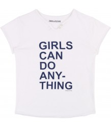 Zadig & Voltaire Kids Tee Boxo GIRLS CAN Zadig & Voltaire Kids Tee Boxo GIRLS CAN
