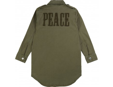 Zadig & Voltaire Kids Kais Shirt Dress PEACE