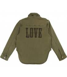 Zadig & Voltaire Kids Bonnie Drill Shirt Jacket LOVE Zadig & Voltaire Kids Bonnie Drill Shirt Jacket